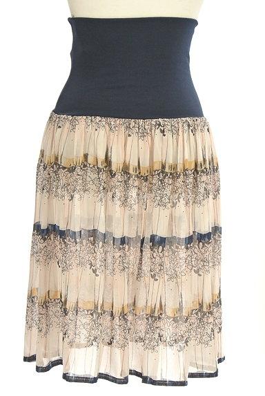 Rouge vif La cle(ルージュヴィフラクレ)の古着「膝下丈花柄シアーフレアスカート(スカート)」大画像2へ
