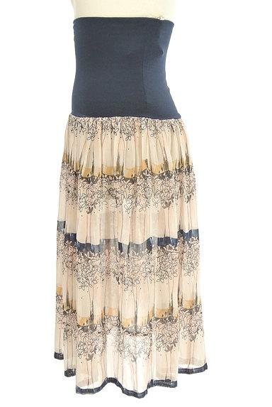 Rouge vif La cle(ルージュヴィフラクレ)の古着「膝下丈花柄シアーフレアスカート(スカート)」大画像3へ