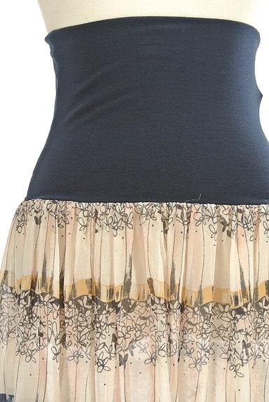 Rouge vif La cle(ルージュヴィフラクレ)の古着「膝下丈花柄シアーフレアスカート(スカート)」大画像4へ