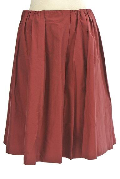 Rouge vif La cle(ルージュヴィフラクレ)の古着「ミディ丈微光沢フレアスカート(スカート)」大画像1へ