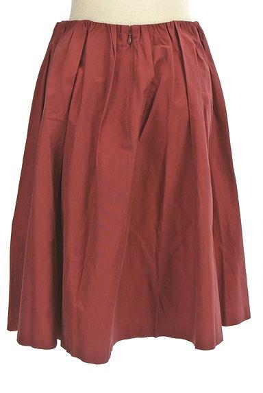 Rouge vif La cle(ルージュヴィフラクレ)の古着「ミディ丈微光沢フレアスカート(スカート)」大画像2へ