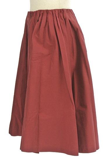 Rouge vif La cle(ルージュヴィフラクレ)の古着「ミディ丈微光沢フレアスカート(スカート)」大画像3へ