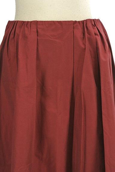 Rouge vif La cle(ルージュヴィフラクレ)の古着「ミディ丈微光沢フレアスカート(スカート)」大画像4へ