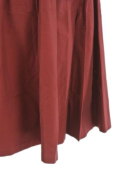 Rouge vif La cle(ルージュヴィフラクレ)の古着「ミディ丈微光沢フレアスカート(スカート)」大画像5へ