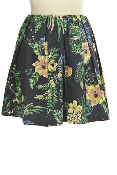 Rouge vif La cle(ルージュヴィフラクレ)の古着「リゾート柄コットンフレアミニスカート(ミニスカート)」大画像2へ
