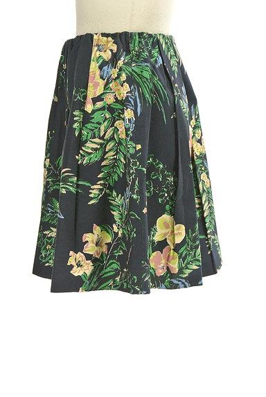 Rouge vif La cle(ルージュヴィフラクレ)の古着「リゾート柄コットンフレアミニスカート(ミニスカート)」大画像3へ