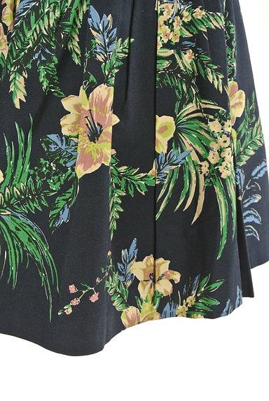 Rouge vif La cle(ルージュヴィフラクレ)の古着「リゾート柄コットンフレアミニスカート(ミニスカート)」大画像5へ