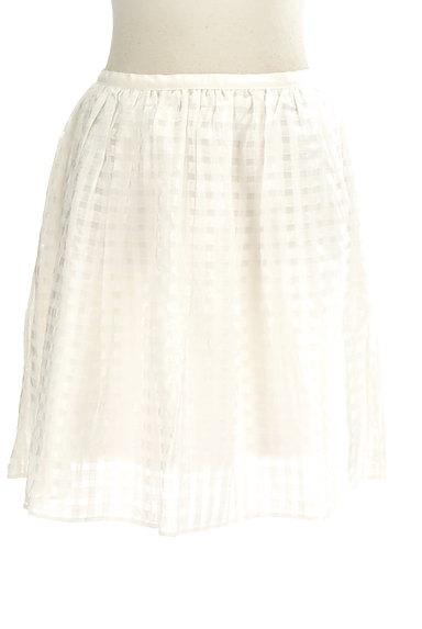 Rouge vif La cle(ルージュヴィフラクレ)の古着「シアーチェック柄膝丈スカート(ミニスカート)」大画像1へ