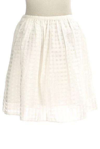 Rouge vif La cle(ルージュヴィフラクレ)の古着「シアーチェック柄膝丈スカート(ミニスカート)」大画像2へ