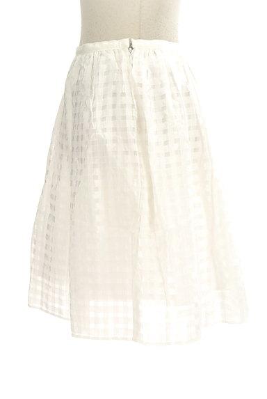 Rouge vif La cle(ルージュヴィフラクレ)の古着「シアーチェック柄膝丈スカート(ミニスカート)」大画像3へ