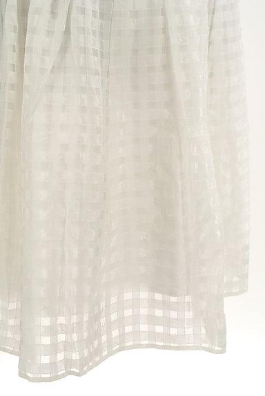 Rouge vif La cle(ルージュヴィフラクレ)の古着「シアーチェック柄膝丈スカート(ミニスカート)」大画像5へ