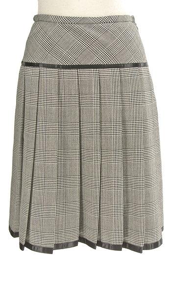 CLEAR IMPRESSION(クリアインプレッション)の古着「千鳥格子チェック柄膝丈プリーツスカート(スカート)」大画像1へ