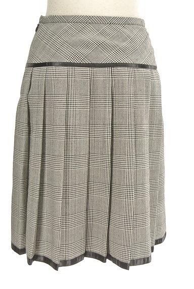 CLEAR IMPRESSION(クリアインプレッション)の古着「千鳥格子チェック柄膝丈プリーツスカート(スカート)」大画像2へ