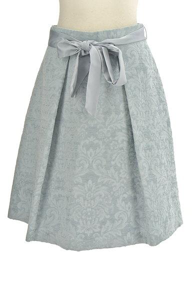 NATURAL BEAUTY(ナチュラルビューティ)の古着「ジャガード花柄膝丈フレアースカート(スカート)」大画像1へ