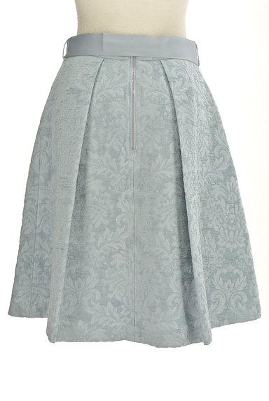 NATURAL BEAUTY(ナチュラルビューティ)の古着「ジャガード花柄膝丈フレアースカート(スカート)」大画像2へ