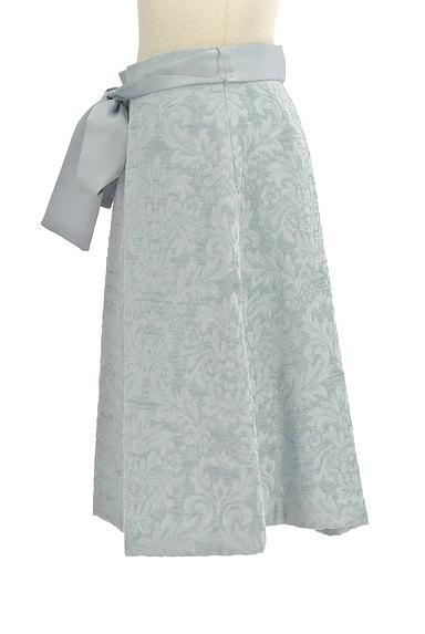 NATURAL BEAUTY(ナチュラルビューティ)の古着「ジャガード花柄膝丈フレアースカート(スカート)」大画像3へ
