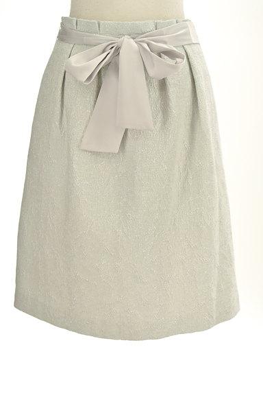 NATURAL BEAUTY(ナチュラルビューティ)の古着「ジャガードラメ膝丈コクーンスカート(スカート)」大画像1へ