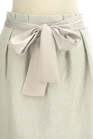 NATURAL BEAUTY(ナチュラルビューティ)の古着「ジャガードラメ膝丈コクーンスカート(スカート)」大画像4へ