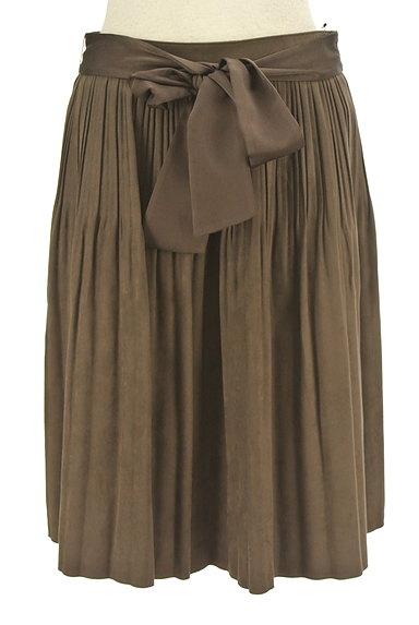NATURAL BEAUTY(ナチュラルビューティ)の古着「ウエストリボンタックフレアスカート(スカート)」大画像1へ