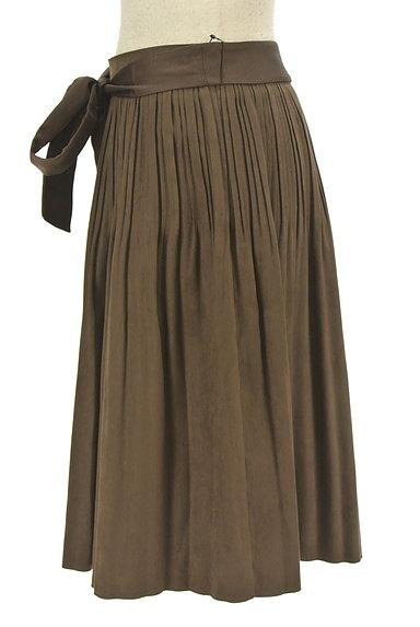 NATURAL BEAUTY(ナチュラルビューティ)の古着「ウエストリボンタックフレアスカート(スカート)」大画像3へ
