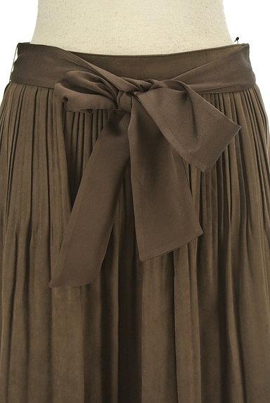 NATURAL BEAUTY(ナチュラルビューティ)の古着「ウエストリボンタックフレアスカート(スカート)」大画像4へ