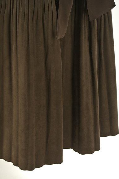 NATURAL BEAUTY(ナチュラルビューティ)の古着「ウエストリボンタックフレアスカート(スカート)」大画像5へ