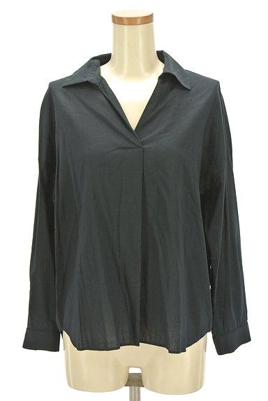 NATURAL BEAUTY(ナチュラルビューティ)の古着「薄手スキッパーシャツ(カジュアルシャツ)」大画像1へ
