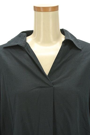 NATURAL BEAUTY(ナチュラルビューティ)の古着「薄手スキッパーシャツ(カジュアルシャツ)」大画像4へ