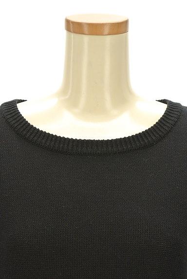 NATURAL BEAUTY(ナチュラルビューティ)の古着「レイヤード風デザイン半袖ニット(ニット)」大画像4へ