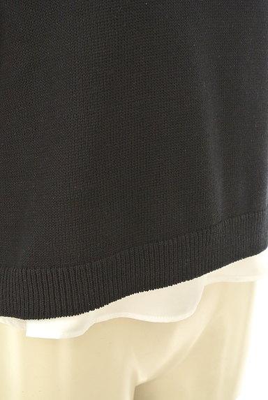 NATURAL BEAUTY(ナチュラルビューティ)の古着「レイヤード風デザイン半袖ニット(ニット)」大画像5へ