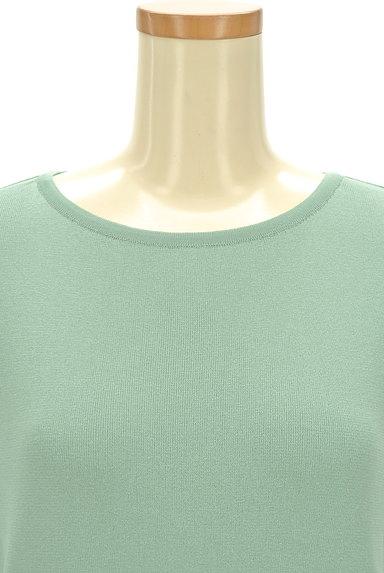 NATURAL BEAUTY(ナチュラルビューティ)の古着「ベーシッククルーネック半袖ニット(ニット)」大画像4へ