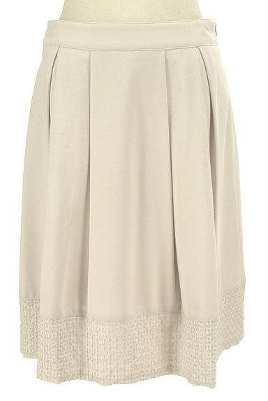 NATURAL BEAUTY(ナチュラルビューティ)の古着「裾刺繍タックフレアスカート(スカート)」大画像1へ