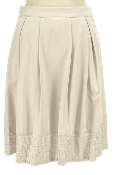 NATURAL BEAUTY(ナチュラルビューティ)の古着「裾刺繍タックフレアスカート(スカート)」大画像2へ