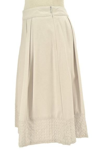 NATURAL BEAUTY(ナチュラルビューティ)の古着「裾刺繍タックフレアスカート(スカート)」大画像3へ