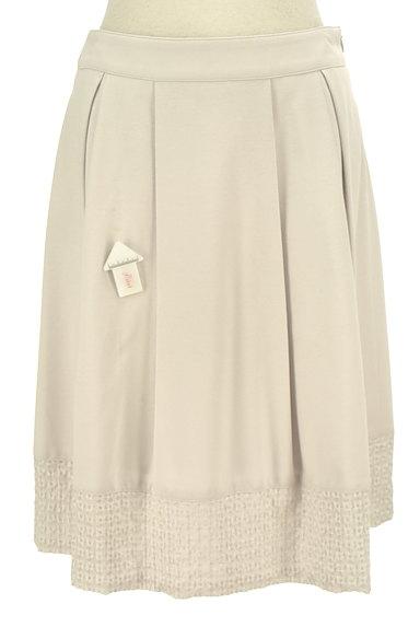 NATURAL BEAUTY(ナチュラルビューティ)の古着「裾刺繍タックフレアスカート(スカート)」大画像4へ
