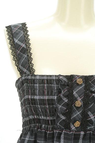 axes femme(アクシーズファム)の古着「アシメトリーチェック柄キャミソールワンピース(キャミワンピース)」大画像4へ