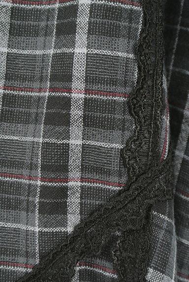axes femme(アクシーズファム)の古着「アシメトリーチェック柄キャミソールワンピース(キャミワンピース)」大画像5へ