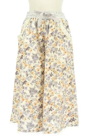 axes femme(アクシーズファム)の古着「花柄ワイドクロップドパンツ(パンツ)」大画像1へ