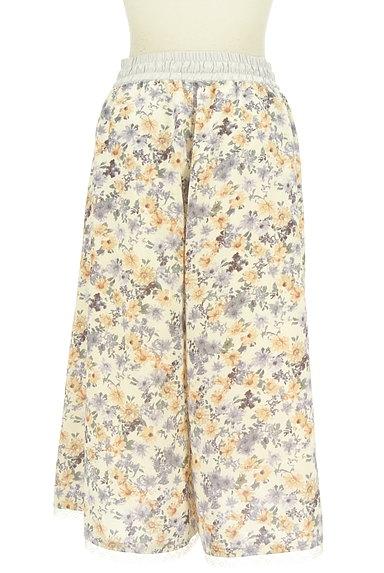 axes femme(アクシーズファム)の古着「花柄ワイドクロップドパンツ(パンツ)」大画像2へ