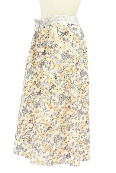 axes femme(アクシーズファム)の古着「花柄ワイドクロップドパンツ(パンツ)」大画像3へ
