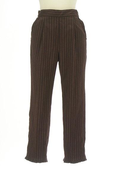 axes femme(アクシーズファム)の古着「裾フリルストライプ柄アンクル丈パンツ(パンツ)」大画像1へ