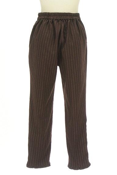 axes femme(アクシーズファム)の古着「裾フリルストライプ柄アンクル丈パンツ(パンツ)」大画像2へ