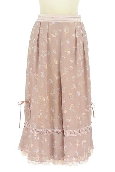 axes femme(アクシーズファム)の古着「花柄フェミニン膝下フレアーパンツ(パンツ)」大画像1へ