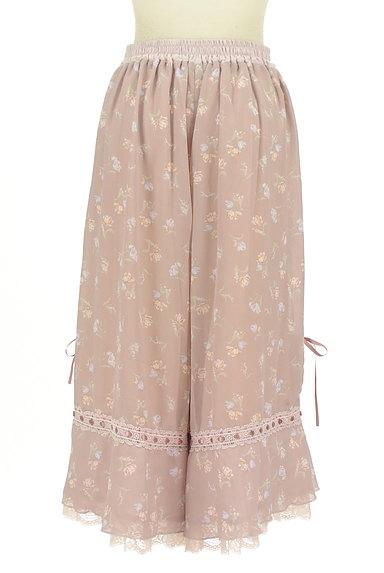 axes femme(アクシーズファム)の古着「花柄フェミニン膝下フレアーパンツ(パンツ)」大画像2へ