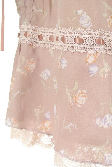 axes femme(アクシーズファム)の古着「花柄フェミニン膝下フレアーパンツ(パンツ)」大画像5へ