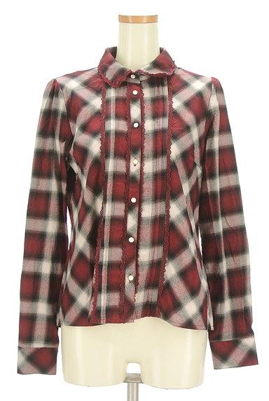 axes femme(アクシーズファム)の古着「クラシカルレースチェックシャツ(カジュアルシャツ)」大画像1へ