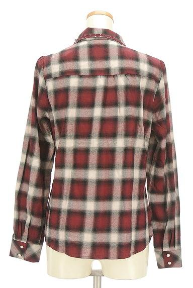 axes femme(アクシーズファム)の古着「クラシカルレースチェックシャツ(カジュアルシャツ)」大画像2へ
