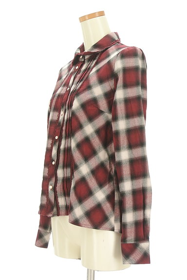 axes femme(アクシーズファム)の古着「クラシカルレースチェックシャツ(カジュアルシャツ)」大画像3へ
