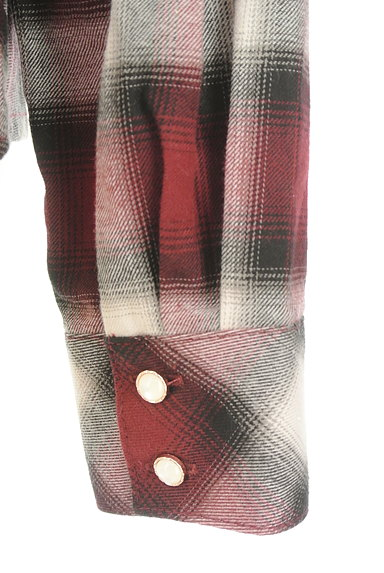axes femme(アクシーズファム)の古着「クラシカルレースチェックシャツ(カジュアルシャツ)」大画像5へ