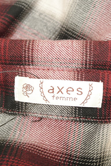 axes femme(アクシーズファム)の古着「クラシカルレースチェックシャツ(カジュアルシャツ)」大画像6へ